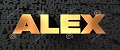 http://www.dreamstime.com/stock-images-alex-gold-text-black-background-d-rendered-royalty-free-stock-picture-image-can-be-used-online-website-banner-ad-image86486514